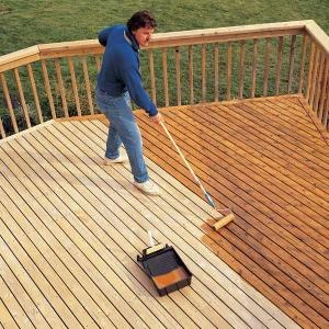 staining-outdoor-deck